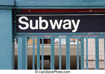 地下鉄サイン