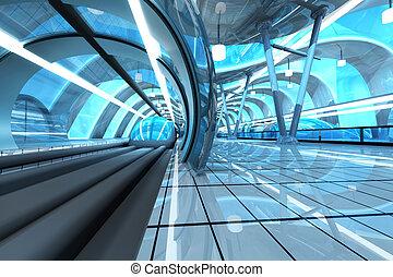 地下鉄, 未来派, 駅