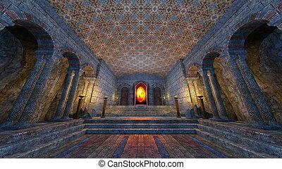 地下, 寺院