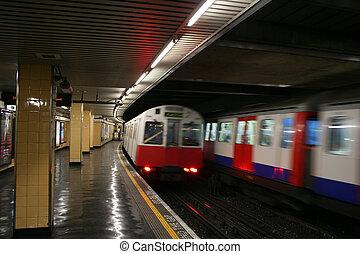 地下, 駅, ロンドン