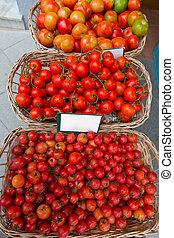 地中海, トマト, 中に, balearic 島, 市場