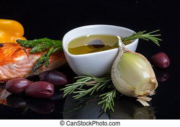 地中海, diet., omega-3