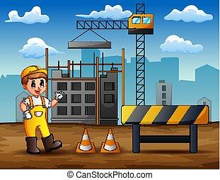 地位, サイト, 建設, 背景, マレ, エンジニア