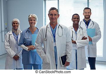 地位, チーム, 病院, 一緒に, 医学