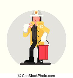 地位, 女の子, 消防士