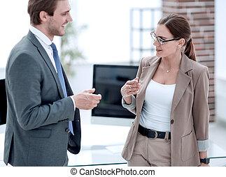 地位, 女性実業家, 現代, オフィス, ビジネスマン