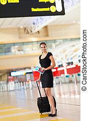 地位, 女性実業家, 空港, 手荷物