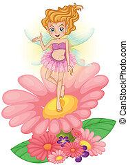地位, 妖精, の上, 花