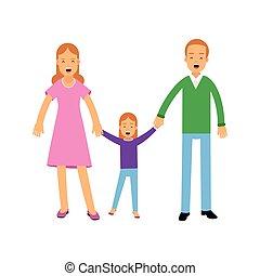 地位, 娘, わずかしか, 概念, 家族, 若い, イラスト, ∥(彼・それ)ら∥, ベクトル, 親, 幸せ