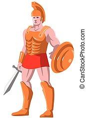 地位, 戦士, ローマ人, centurion, gladiator