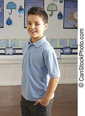地位, 教室, 学校, 予備選挙, 生徒, 肖像画, マレ