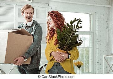 地位, 植物, 女, ∥髪をした∥, 赤, すてきである