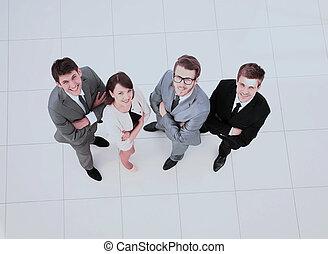 地位, 概念, ビジネス, 中央の,  trust:successful, チーム