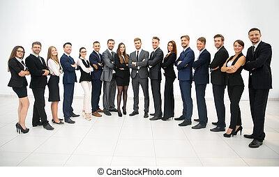 地位, 横列, グループ, ビジネス チーム