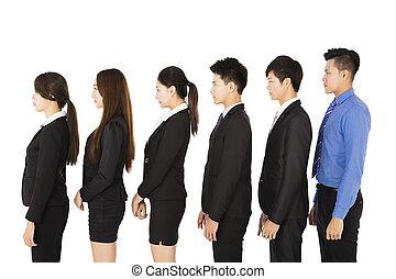 地位, 横列, グループ, ビジネス 人々