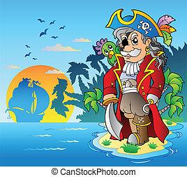 地位, 気高い, 海賊, 島