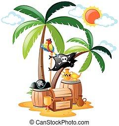 地位, 海賊, オウム, 鳥