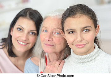 地位, 祖母, 横列, 孫娘, 母