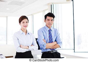 地位, 若い, オフィス, ビジネス 人々