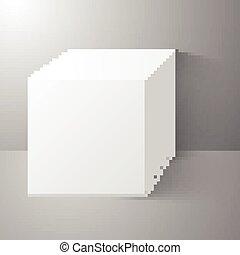 地位, 表面, 立方体, 壁, きれいにしなさい
