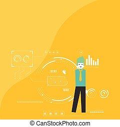 地位, diagram., 背景, 指すこと, プロセス, チャート, optimization, 考え, icons., 創造的, プレゼンテーション, ペン, report., 保有物, seo, 周期, 満たされた, 人