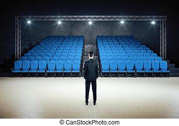 地位, minimalistic, 劇場, 映画, ビジネスマン