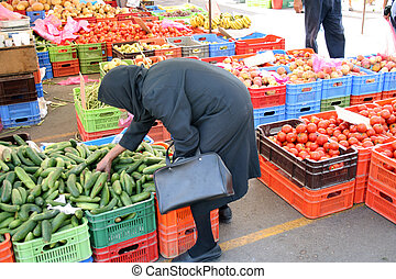 地元のマーケット