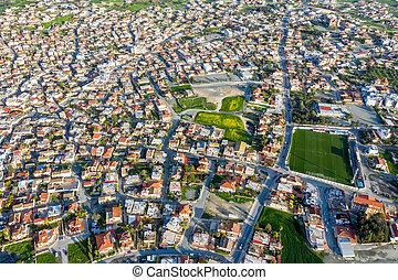 地区, aradippou, 光景, larnaca, 航空写真, キプロス, village.