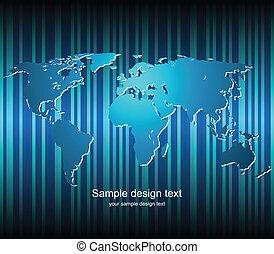 地図の背景, 世界, ベクトル