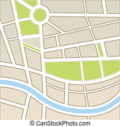 地図の背景, 都市