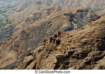 地図帳, morocco., 山