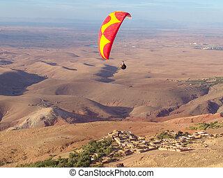 地図帳, paragliding, モロッコ