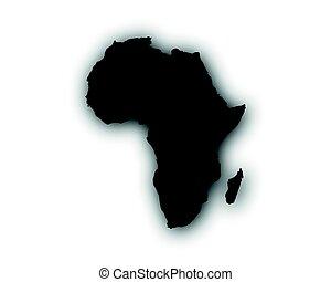地図, の, アフリカ, ∥で∥, 影