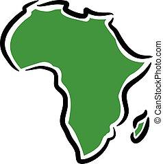地図, の, アフリカ