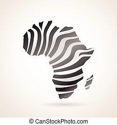 地図, の, アフリカ, 大陸