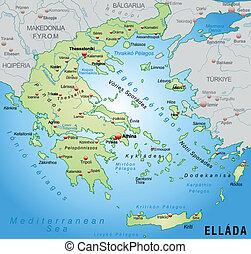 地図, の, ギリシャ