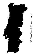 地図, の, ポルトガル
