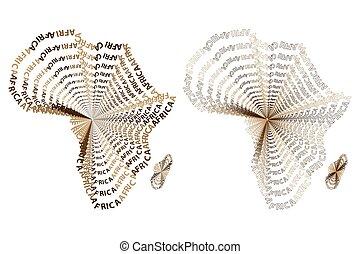 地図, の, 大陸, アフリカ