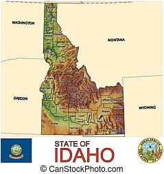 地図, アイダホ, 郡