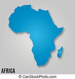地図, アフリカ, 大陸