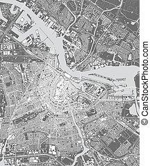 地図, アムステルダム, 都市, netherlands