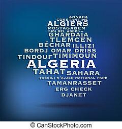 地図, アルジェリア