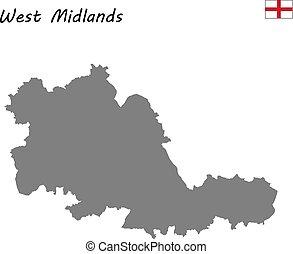 地図, イギリス\, 郡, 高く, 品質, 儀式