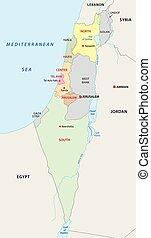 地図, イスラエル, 管理上
