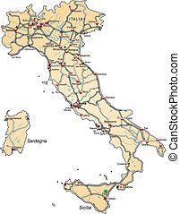 地図, イタリア