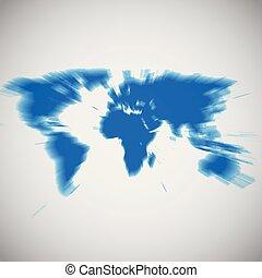 地図, イラスト, ベクトル, アフリカ, 集中, 世界