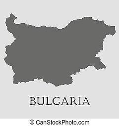 地図, -, イラスト, ベクトル, 黒, ブルガリア