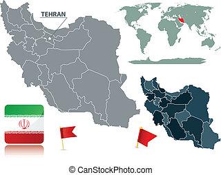 地図, イラン, コレクション