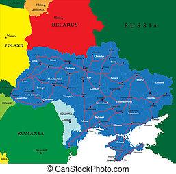 地図, ウクライナ