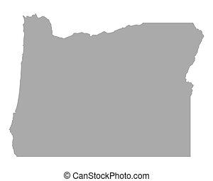 地図, オレゴン